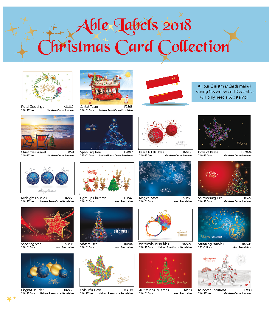 2018 Christmas Cards - Able Labels Australia